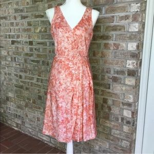 Talbots 8 petite silk peach dress
